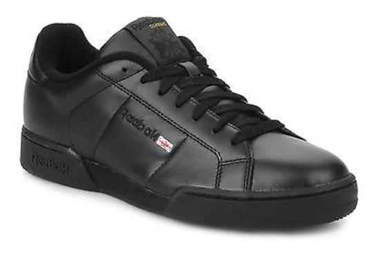 New-Mens-Reebok-Black-NPC-Classic-Leather-Trainers-UK-6-6-5-7-7-5-8-8-5-9-10-11