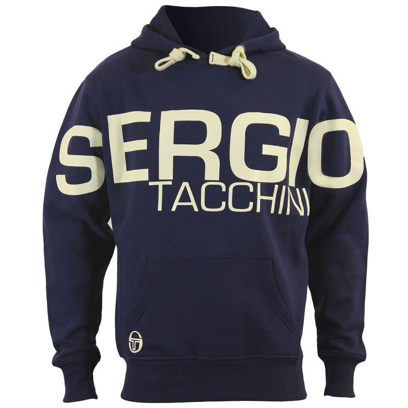 new mens sergio tacchini peacoat navy falcone hoody hooded sweater jumper ebay. Black Bedroom Furniture Sets. Home Design Ideas