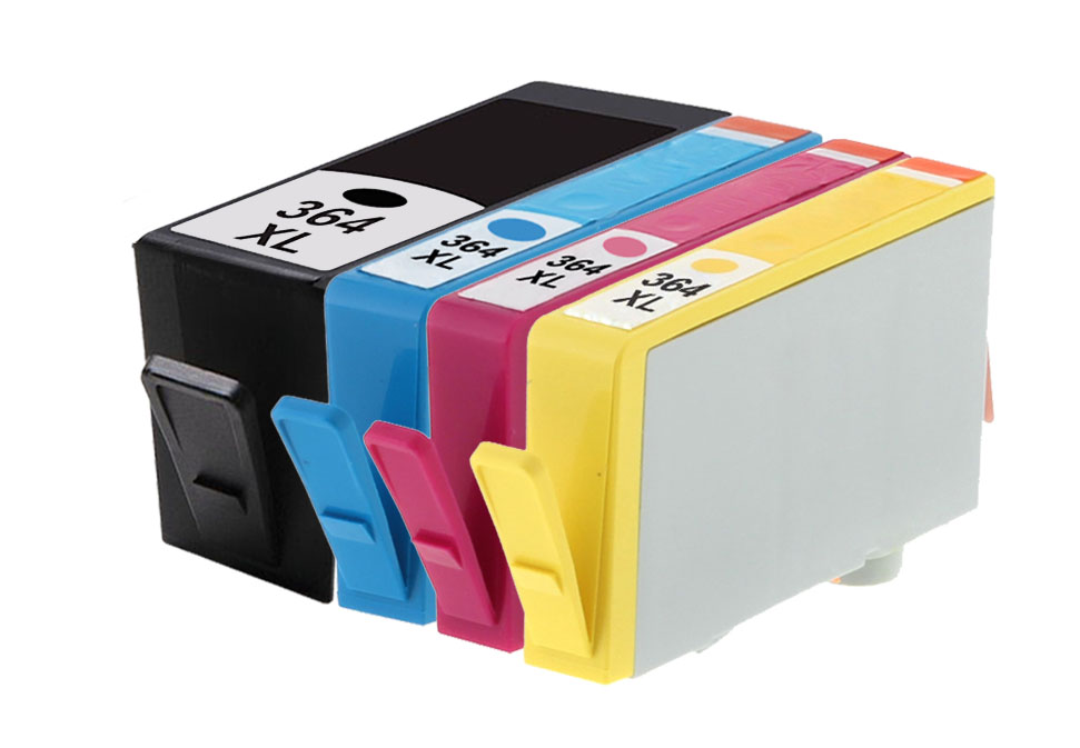4 compatible hp 364xl multipack high capacity printer ink cartridges. Black Bedroom Furniture Sets. Home Design Ideas