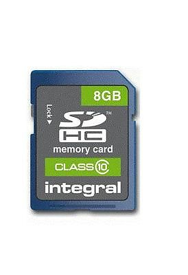8GB SD SDHC CLASS 10 MEMORY CARD PANASONIC CANON FUJIFILM HD RECORDING HI SPEED