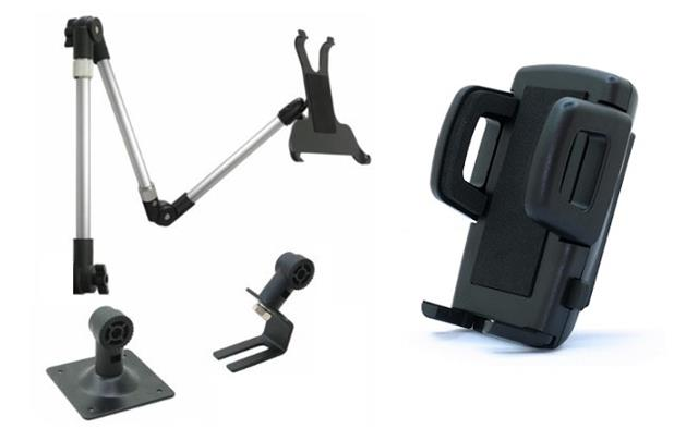 Table car wall mount tablet holder desktop mounting with universal phone holder ebay - Wall mount headphone holder ...