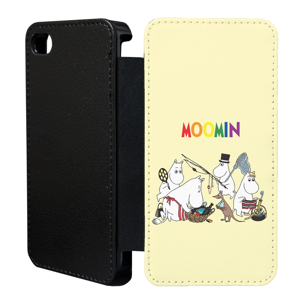 moomins cartoon flip case cover for apple iphone 4 4s 5 5s 6 plus 41. Black Bedroom Furniture Sets. Home Design Ideas