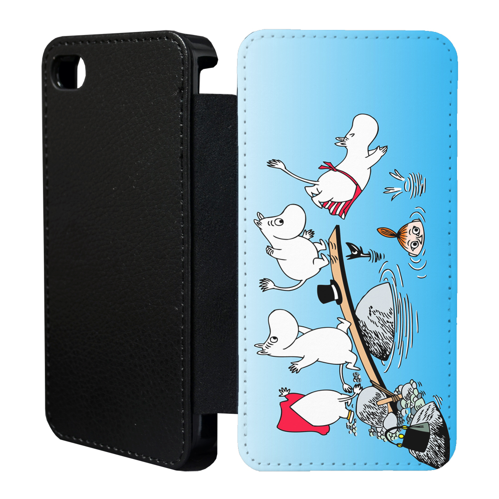 moomins cartoon flip case cover for apple iphone 4 4s 5 5s 6 plus 41 ebay. Black Bedroom Furniture Sets. Home Design Ideas