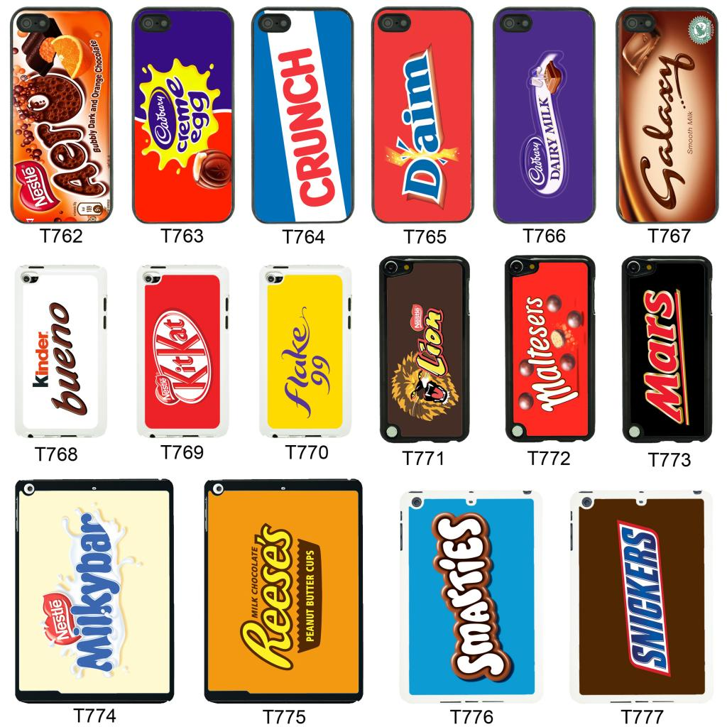 Chocolate Wrappers cover case for Apple iPhone iPod & iPad - T2