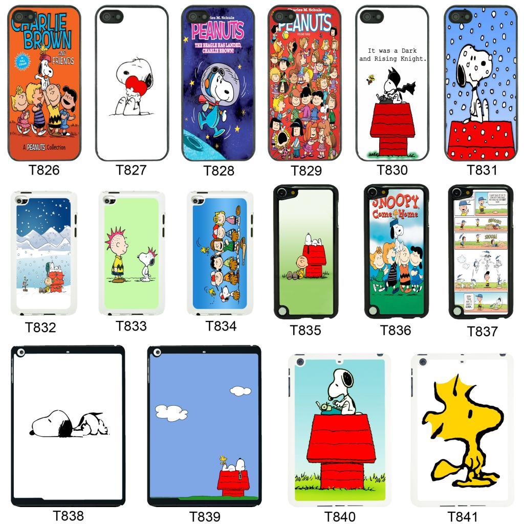 Snoopy Cartoon cover case for Apple iPhone iPod & iPad - T8