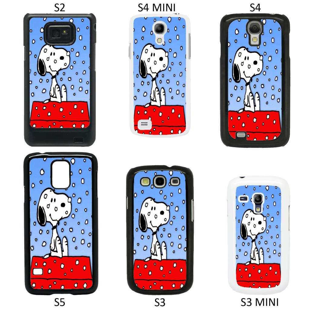 ... Snoopy Cartoon cover case for Samsung Galaxy S2 S3 S4 S5 Mini - T8