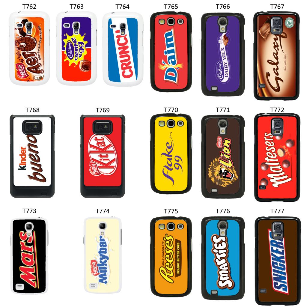 ... Chocolate Wrappers cover case for Samsung Galaxy S2 S3 S4 S5 Mini - T2