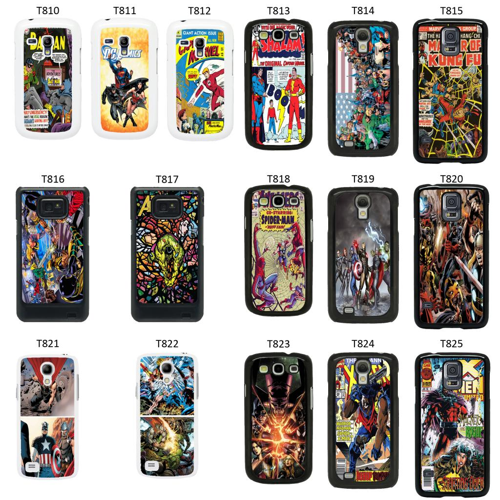 dc marvel comic book cover case f r samsung galaxy s2 s3. Black Bedroom Furniture Sets. Home Design Ideas