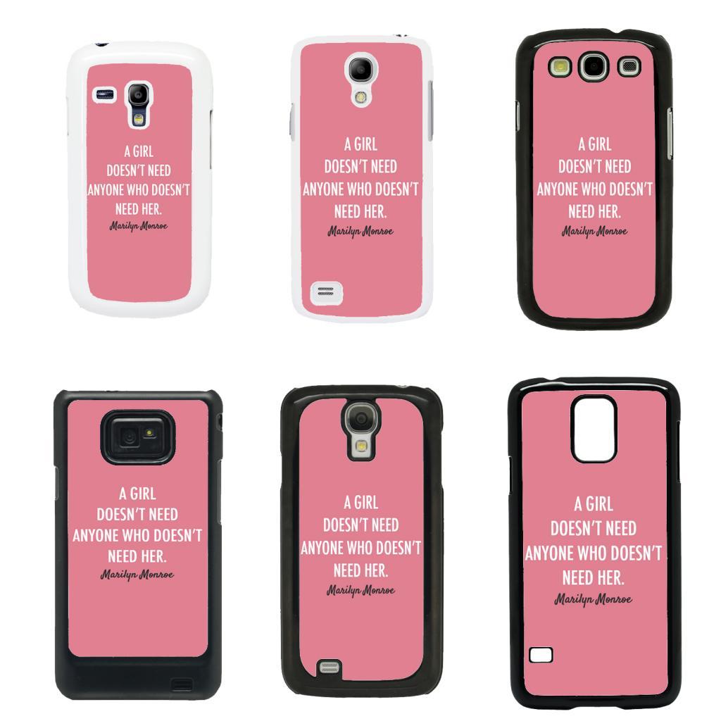 Marilyn monroe cover case for samsung galaxy s2 s3 s4 s5 mini t42 ebay - Fundas para s3 mini ...