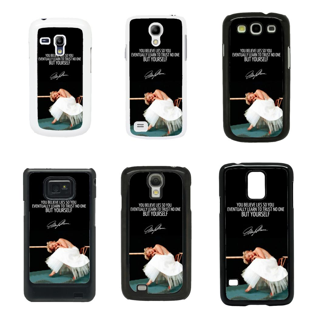 Marilyn monroe cover case for samsung galaxy s2 s3 s4 s5 mini t42 ebay - Samsung galaxy s2 fundas ...