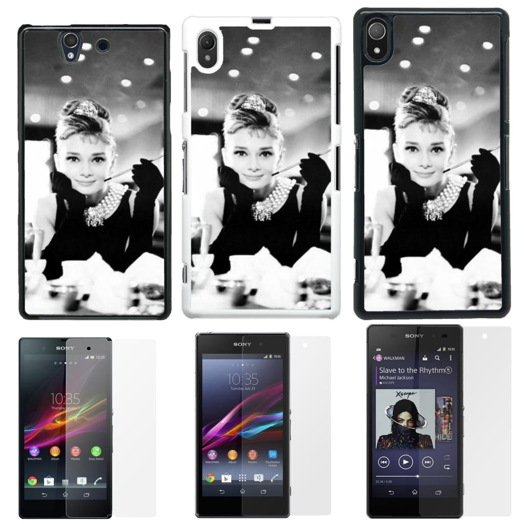 Audrey Hepurn 1 Case Cover for Sony Xperia Z - Z1 and Z2