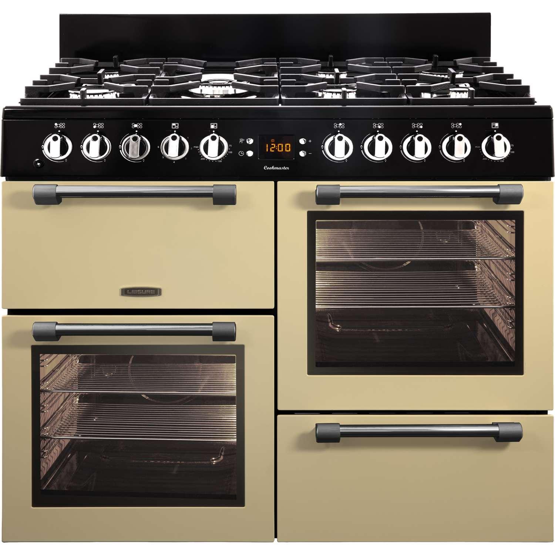 Double Double 100cm : Leisure ck g c cm gas range cooker programmable
