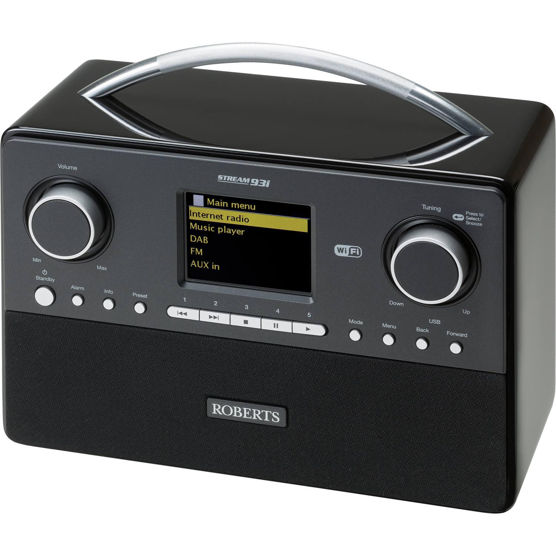 roberts stream 93i portable dab fm internet radio with. Black Bedroom Furniture Sets. Home Design Ideas
