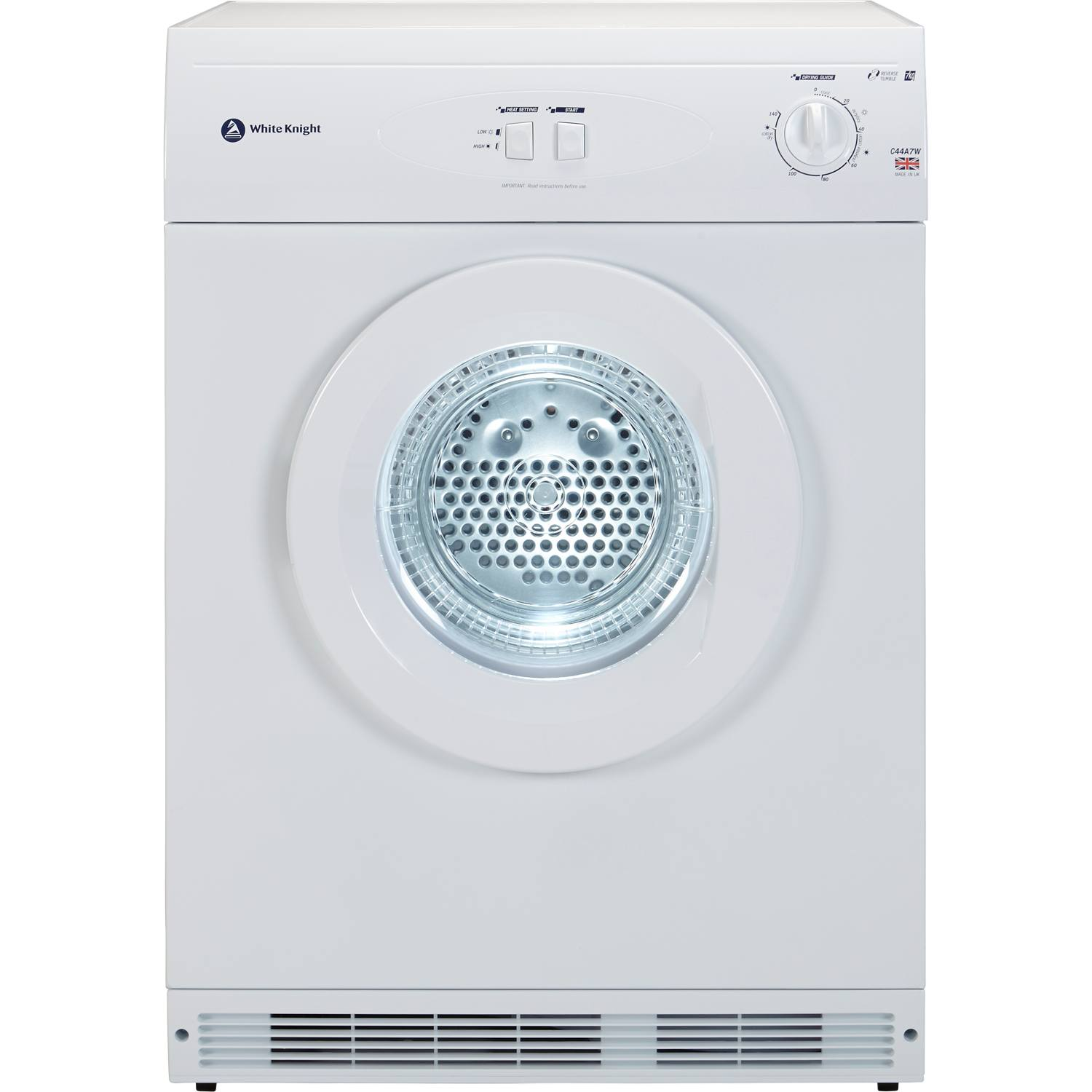 Non Vented Dryer ~ White knight c a w freestanding kg vented tumble dryer