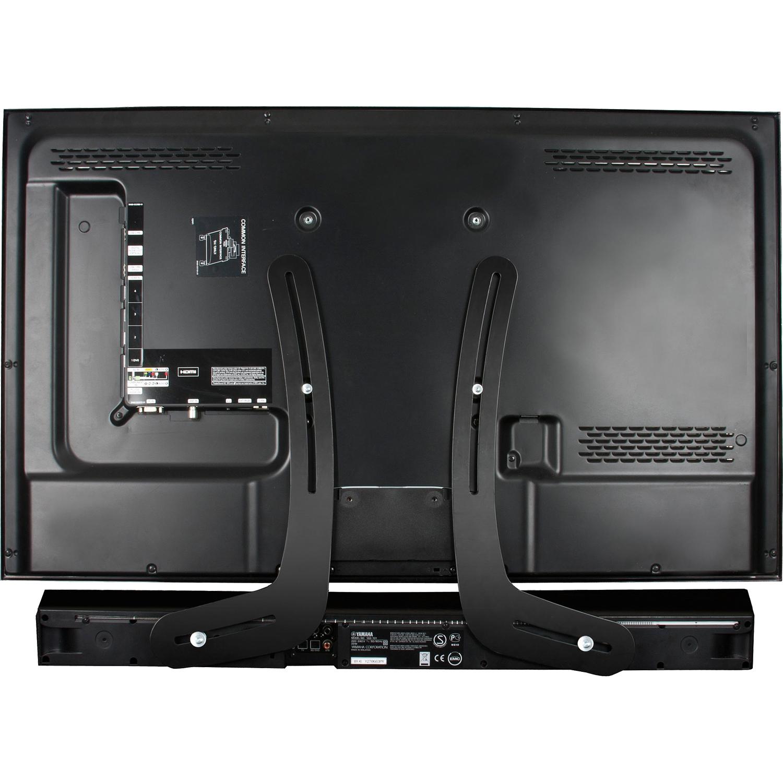 ventry btv914 b universal soundbar speaker mount for flat screen tv black ebay. Black Bedroom Furniture Sets. Home Design Ideas