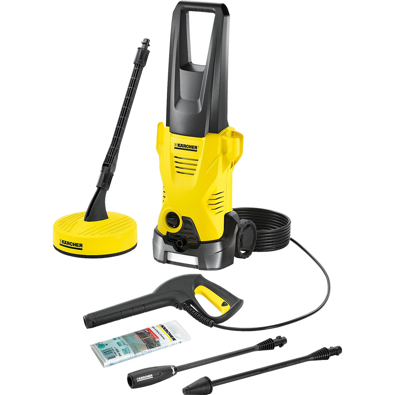 karcher k2 1400 watts premium home high pressure portable washer in yellow new ebay. Black Bedroom Furniture Sets. Home Design Ideas