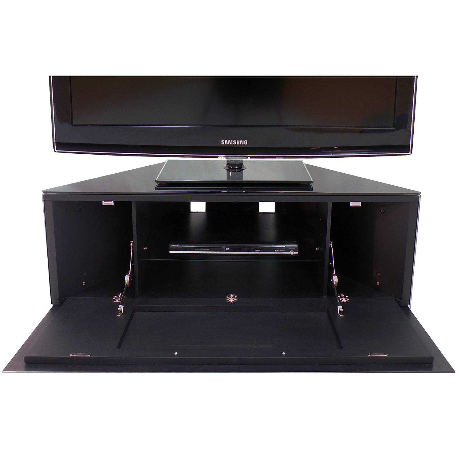 Mda Designs Antares Av High Gloss Black Tv Corner Cabinet