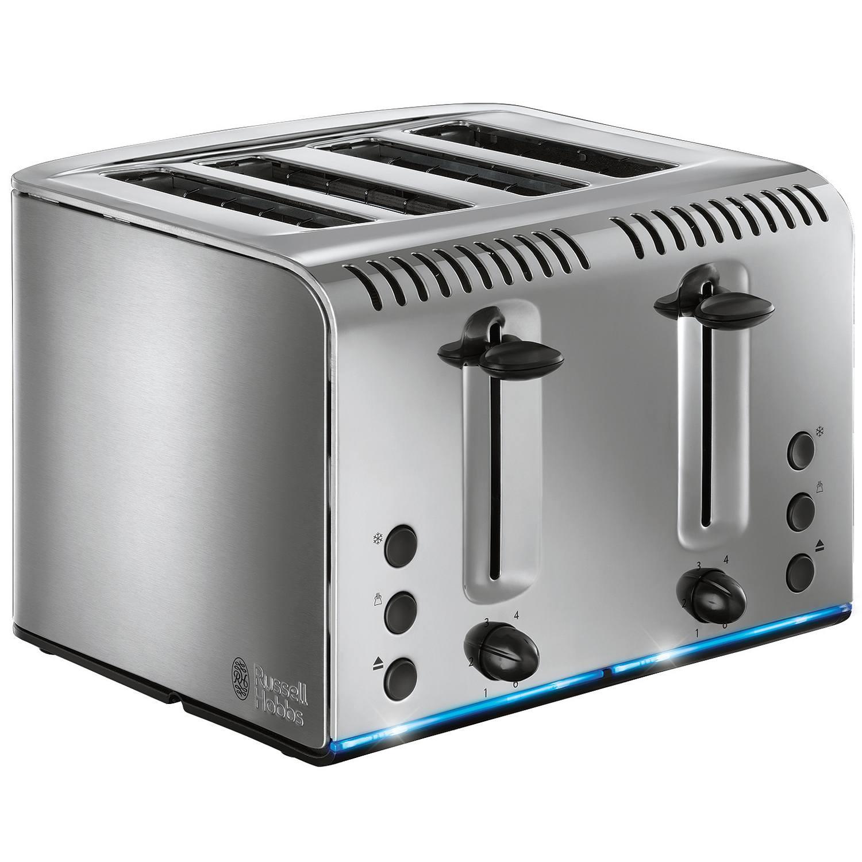 Russell Hobbs Buckingham 4 Slice Toaster in Brushed Stainless Steel