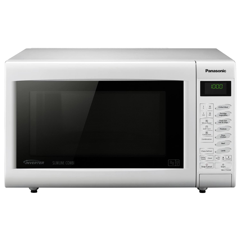 Slimline Combination Microwave Oven: Panasonic NNCT555WBPQ 27L 21 Programmes Slimline