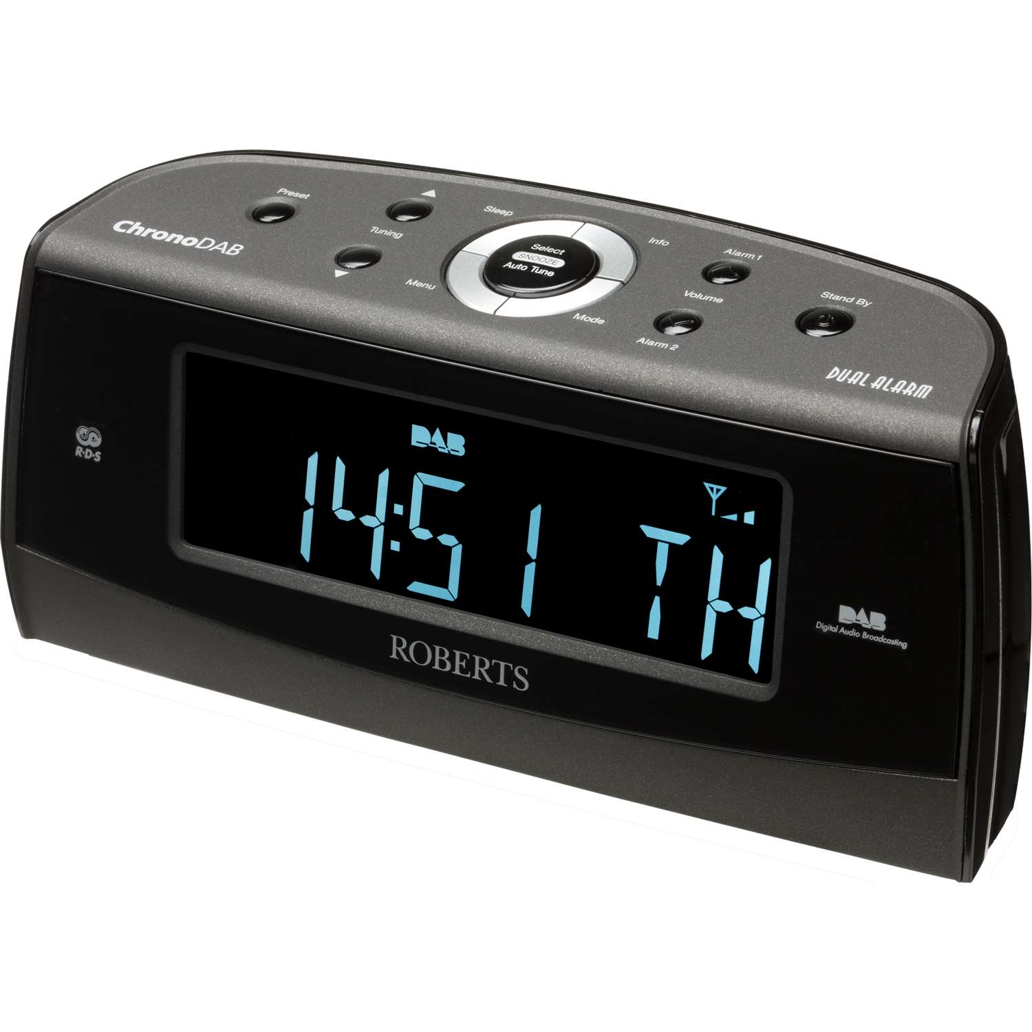dab radio alarm clock with headphone socket goodmans portable digital fm radio in copper. Black Bedroom Furniture Sets. Home Design Ideas