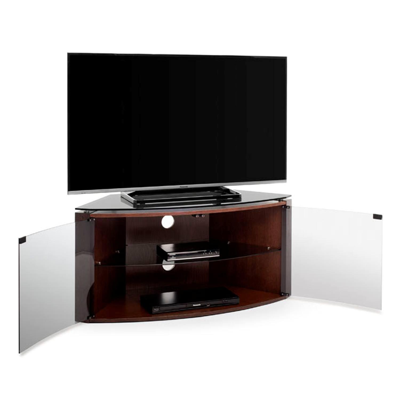 Techlink Bench B6DO Dark Oak Corner TV Stand For Up To 55