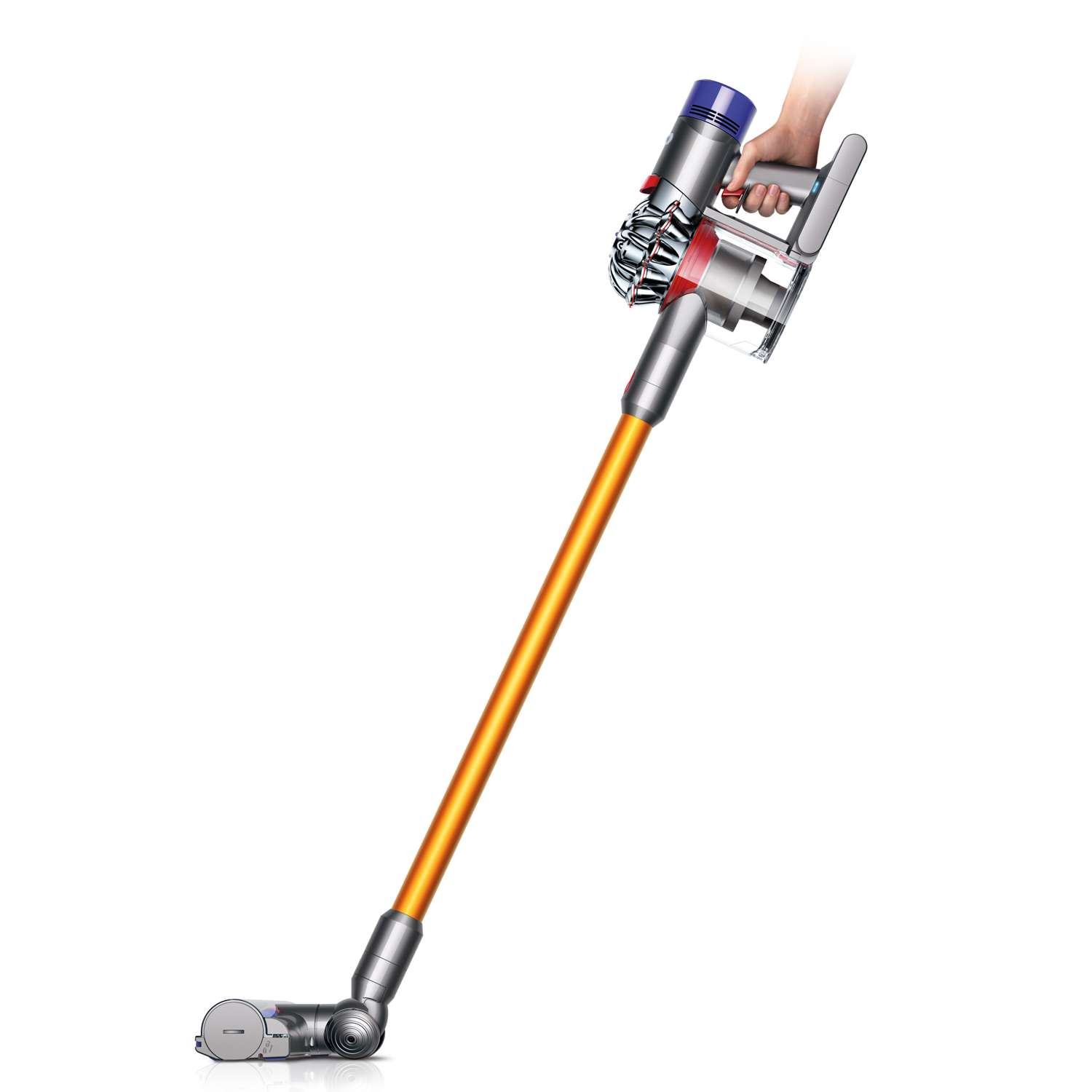 dyson v8 absolute cordless rechargeable vacuum cleaner in silver new ebay. Black Bedroom Furniture Sets. Home Design Ideas