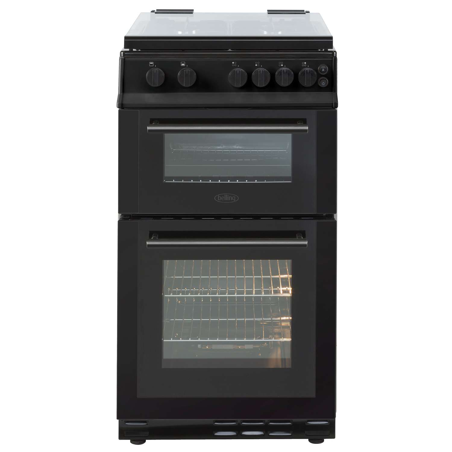 belling fs50gdol 50cm freestanding double oven 4 burners. Black Bedroom Furniture Sets. Home Design Ideas