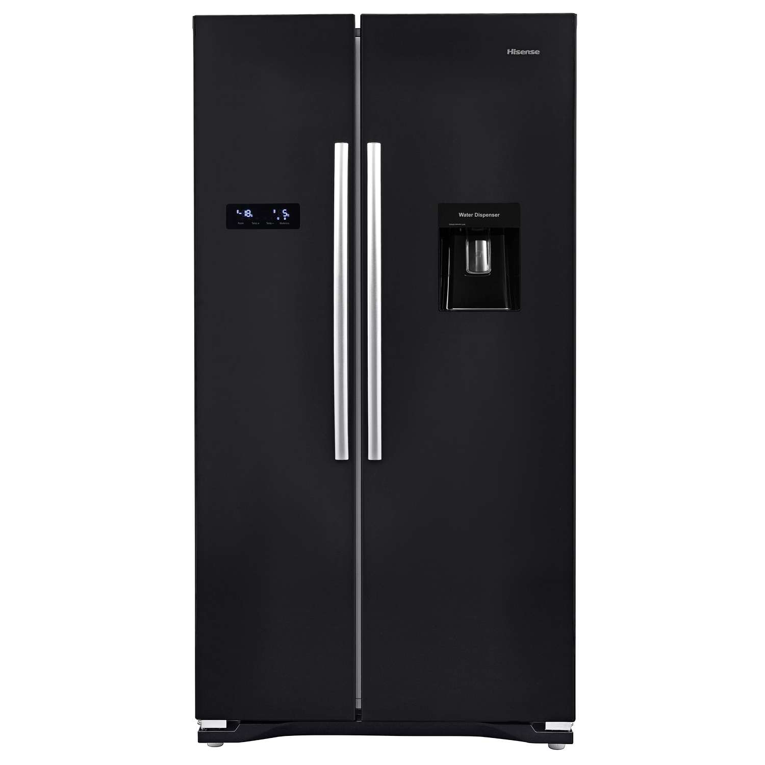 hisense rs723n4wb1 a rated american frost free 6 shelves fridge freezer black 6943619738374 ebay. Black Bedroom Furniture Sets. Home Design Ideas