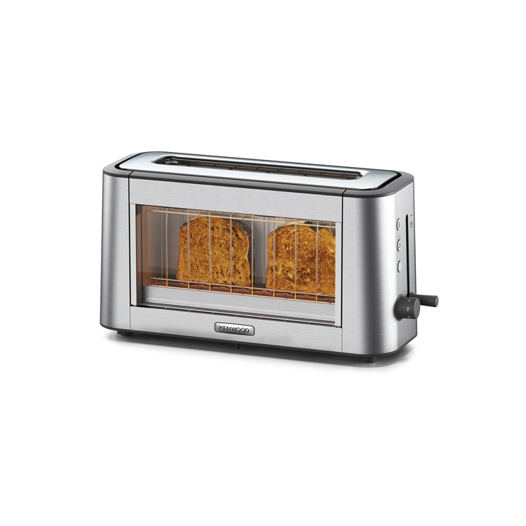 Kenwood Tog800cl Personal Clear Glass One Slot Toaster