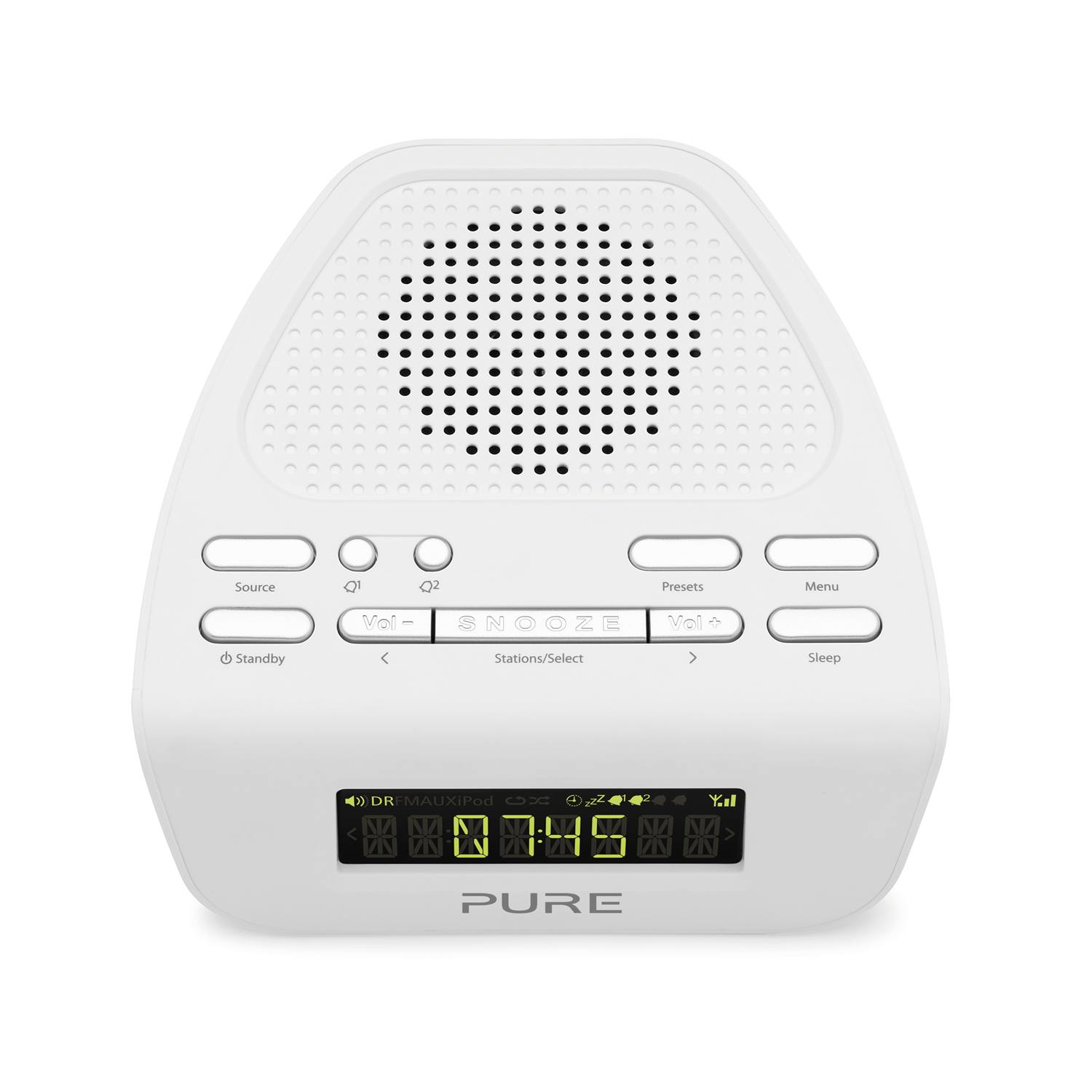 pure siesta mi series ii white lcd display duo alarm bedside digital fm radio ebay. Black Bedroom Furniture Sets. Home Design Ideas