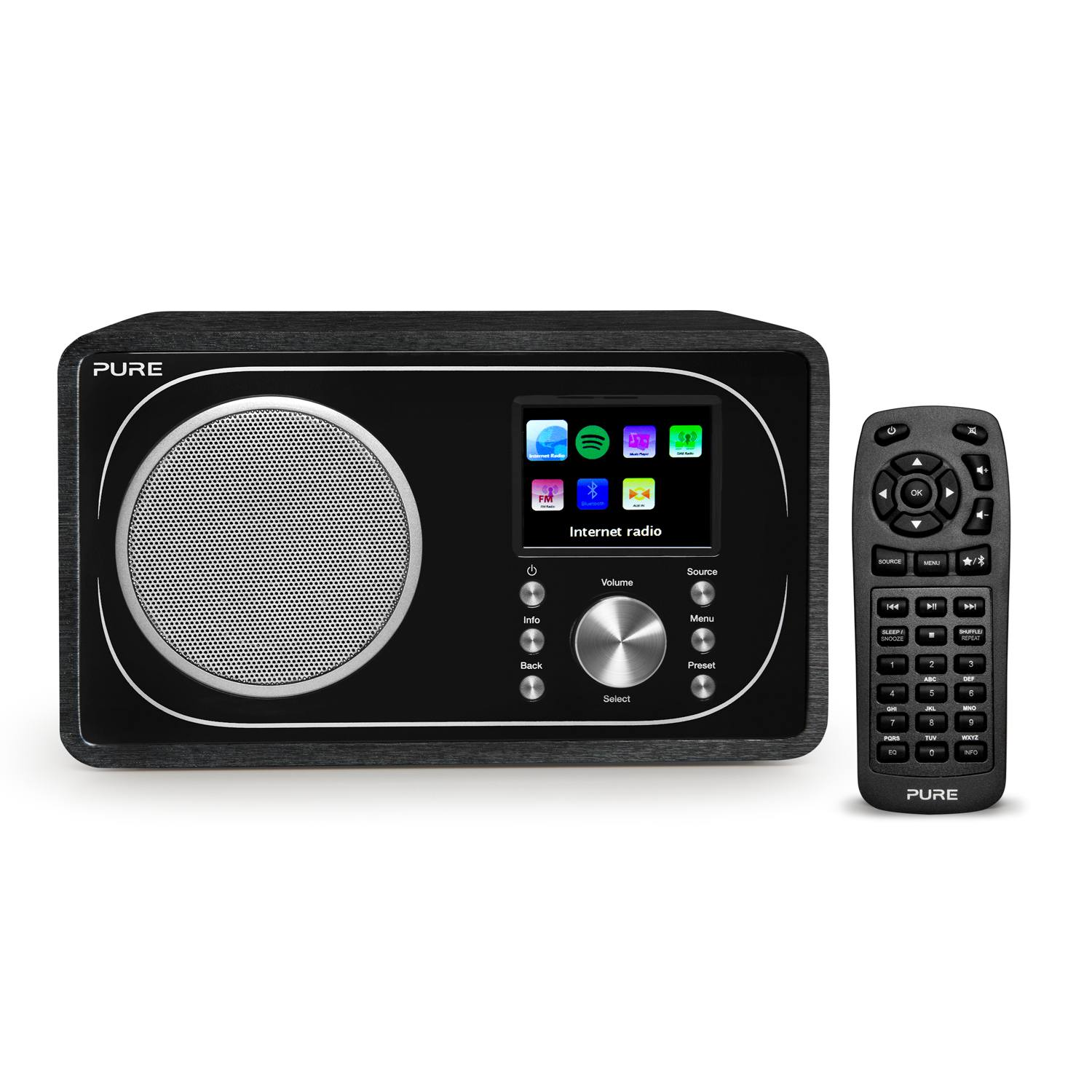 pure evoke f3 portable internet radio with bluetooth wifi. Black Bedroom Furniture Sets. Home Design Ideas