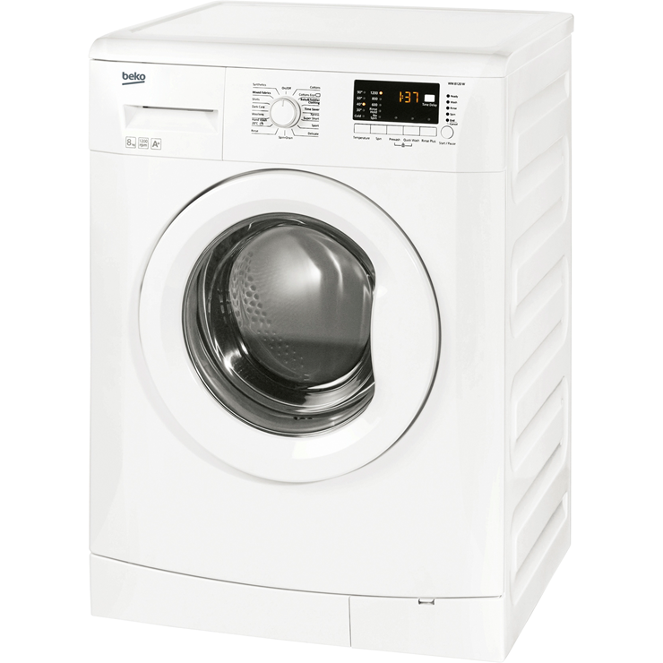 Beko Wm8120w A Rated 8kg 1200 Spin 11 Programmes Washing
