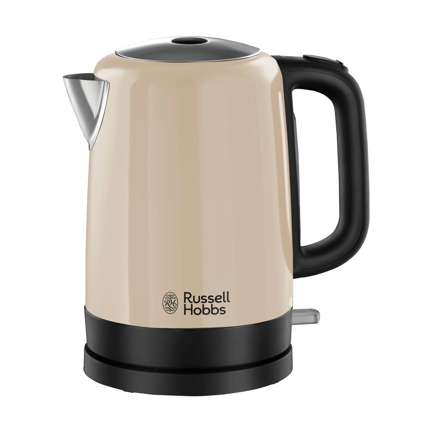 russell hobbs 20614 1 7l 3000w rapid boil canterbury cordless kettle in cream ebay. Black Bedroom Furniture Sets. Home Design Ideas