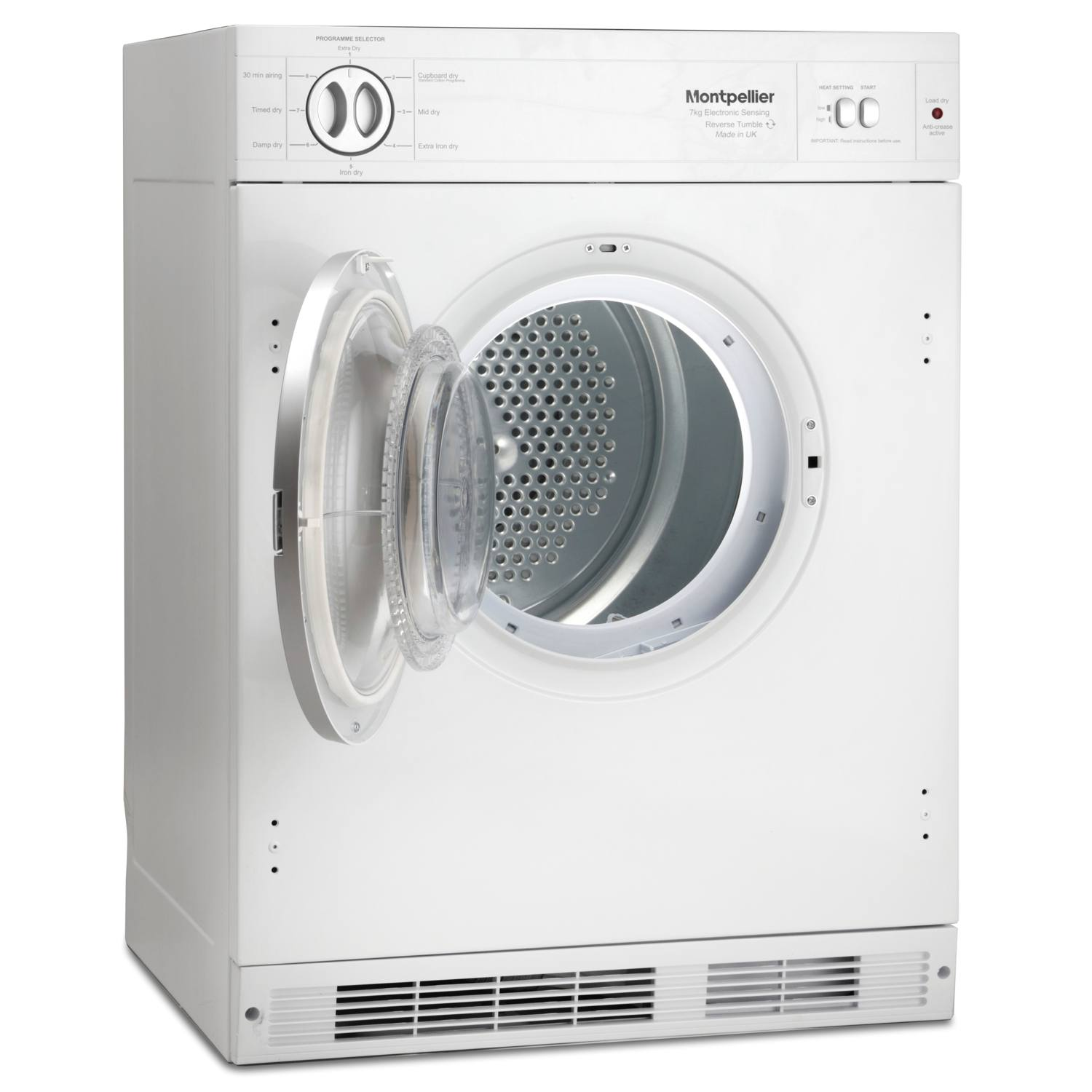 Non Vented Dryer ~ Montpellier mtdi s kg integrated temps sensor vented