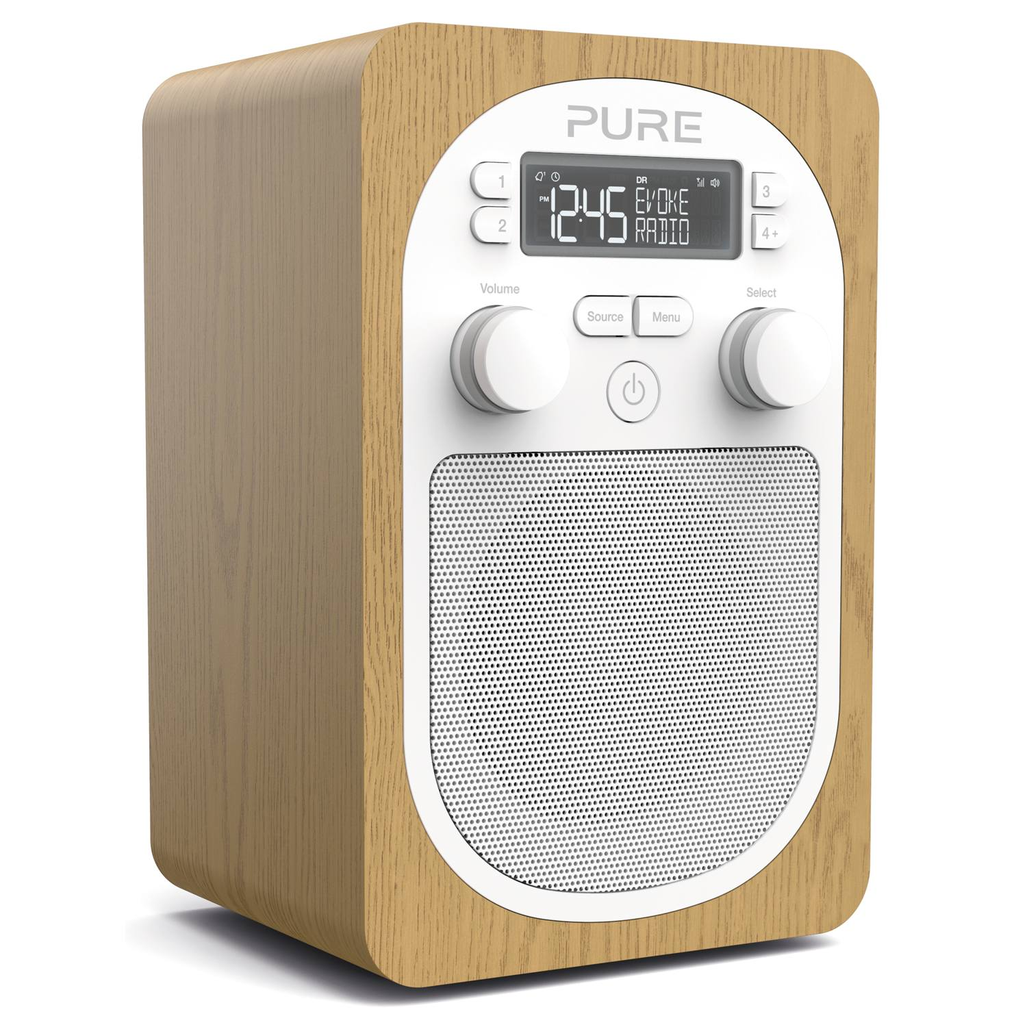 pure evoke h2 dab fm digital portable alarm clock radio oak ebay. Black Bedroom Furniture Sets. Home Design Ideas