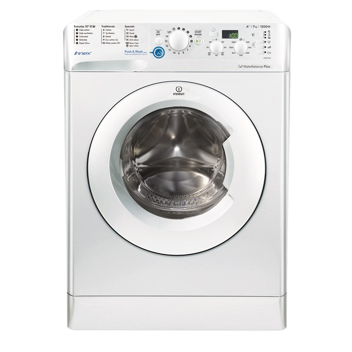 indesit innex bwsd71252w a rated 7kg 1200 spin washing machine in white new ebay. Black Bedroom Furniture Sets. Home Design Ideas
