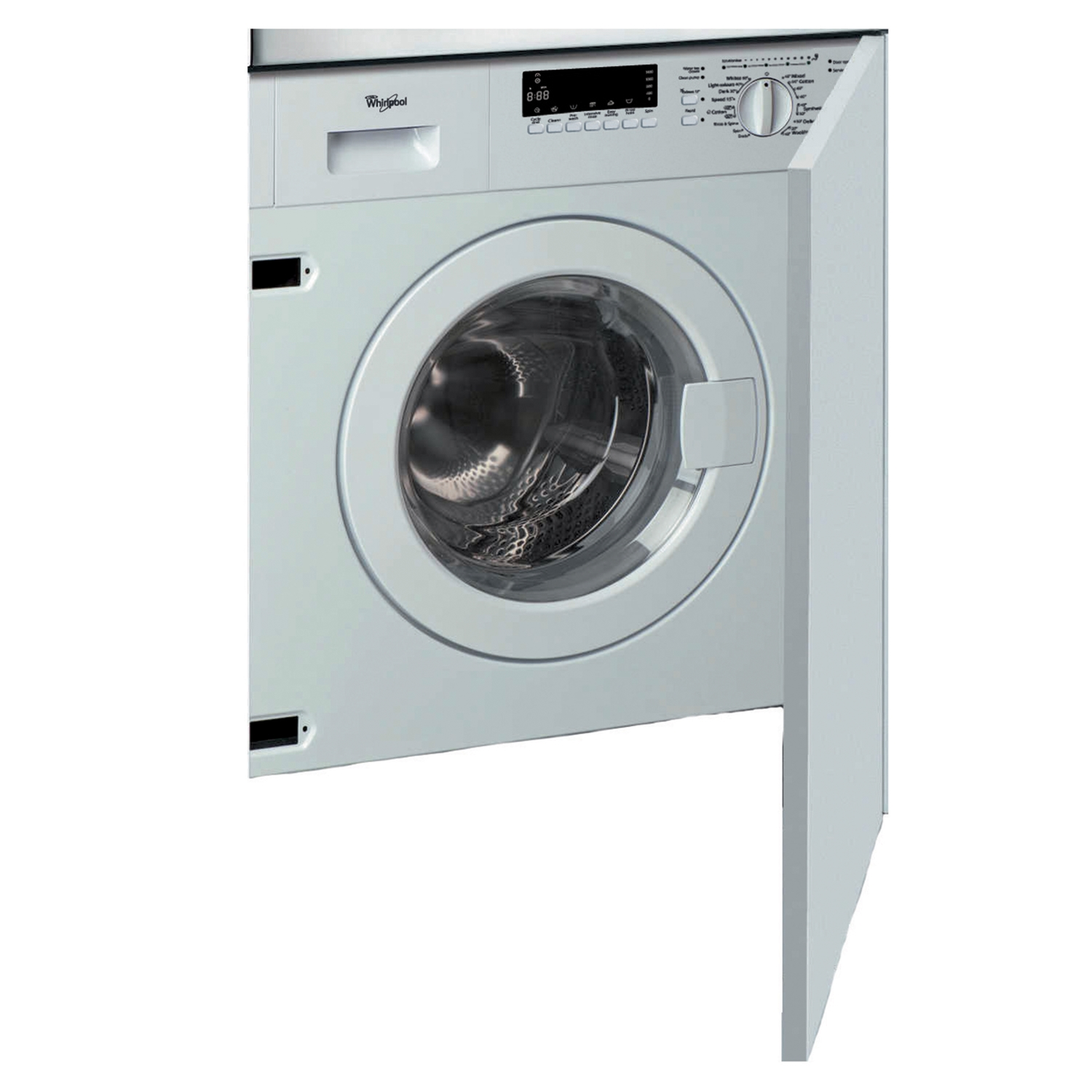 whirlpool awoc0714 a rated 7kg 1400 built in integrated. Black Bedroom Furniture Sets. Home Design Ideas