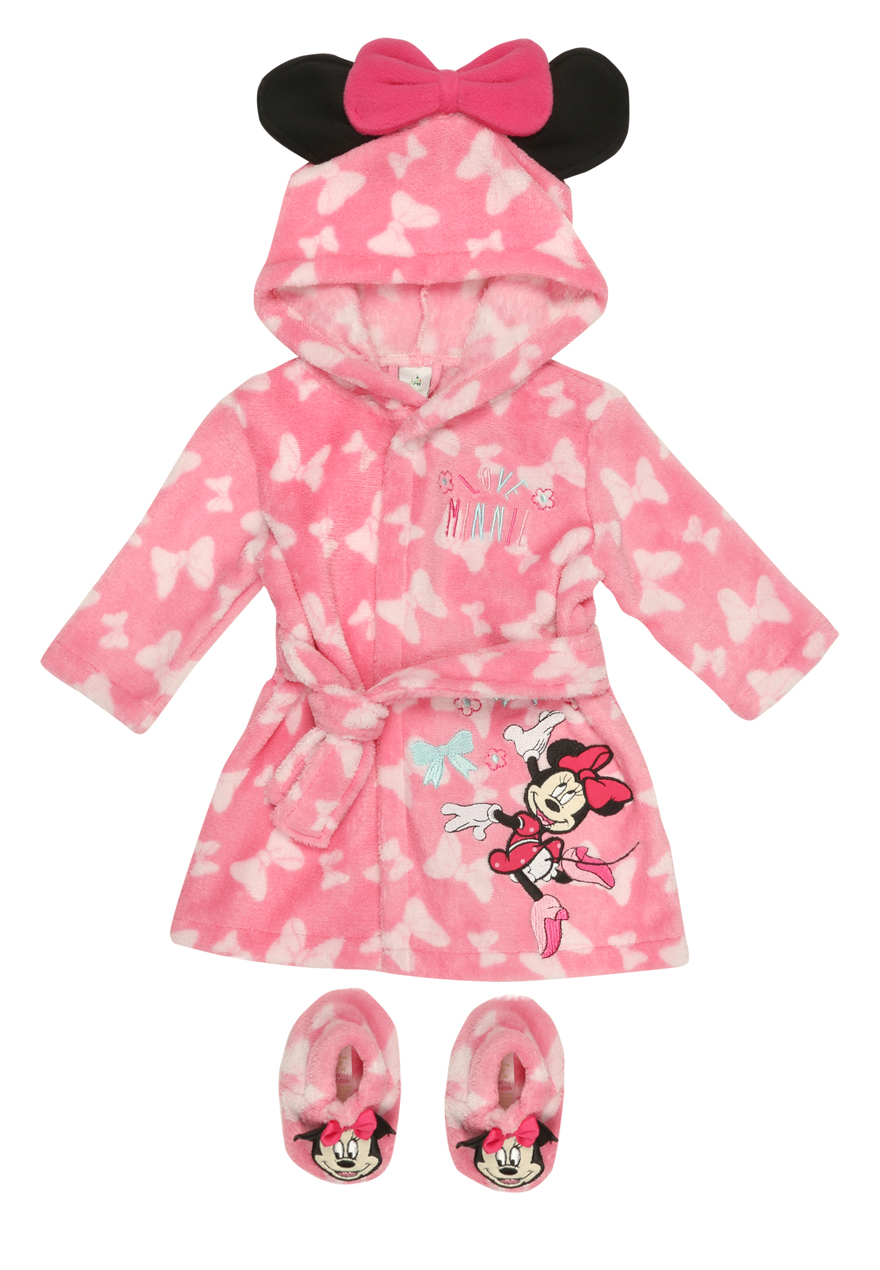 Peacocks Baby Girls Disney Minnie Mouse Dressing Gown