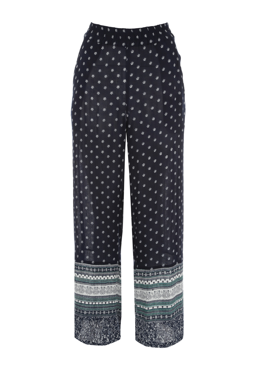 Peacocks Womens Ladies Cheesecloth Palazzo Trousers Full Length Leggings Pants