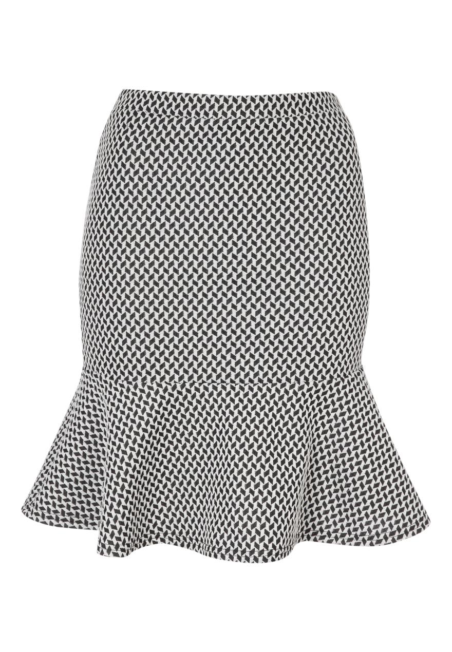 Peacocks-Womens-Ladies-Printed-Peplum-Skirt-With-Elasticated-Waist-Brand-New