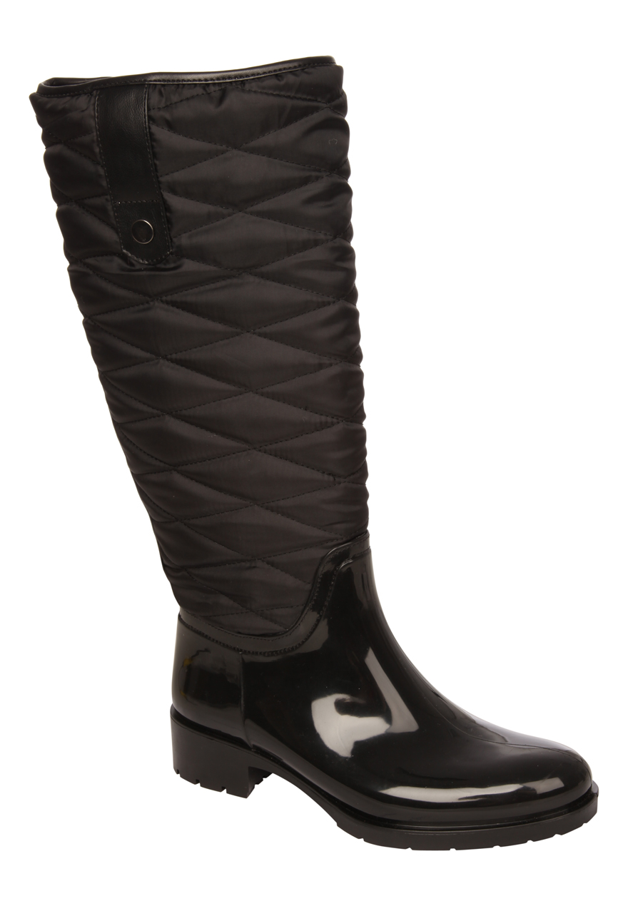Peacocks Womens Ladies Quilted Welly Wellington Boots