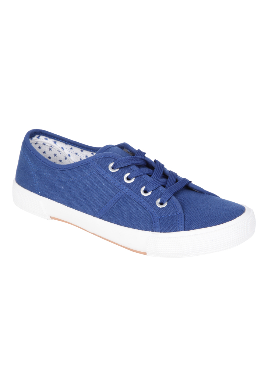 peacocks womens shoe chunky sole lace up canvas