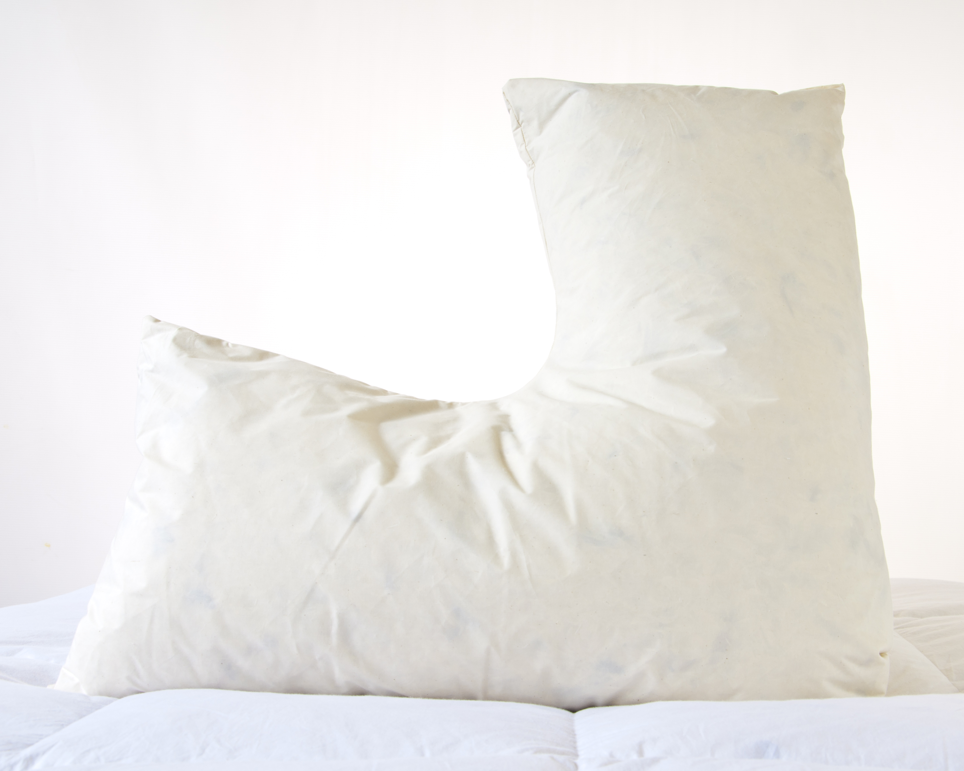 Duck Feather 100 Cotton Cover Filled Luxury V Shaped