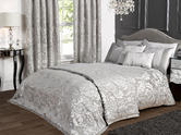Deluxe Boston Jacquard Damask Duvet Set in Grey