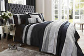 Faux Silk Duvet Set with Pillowcase(s) in Black