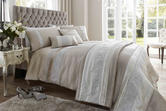 Faux Silk Duvet Set with Pillowcase(s) in Latte