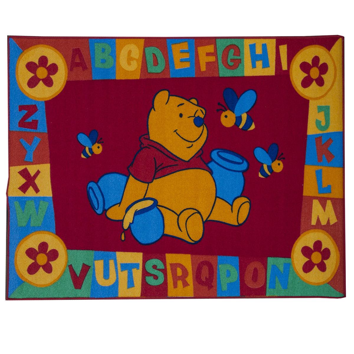 Disney Winnie The Pooh ABC RED Rug Antislip Childrens Play