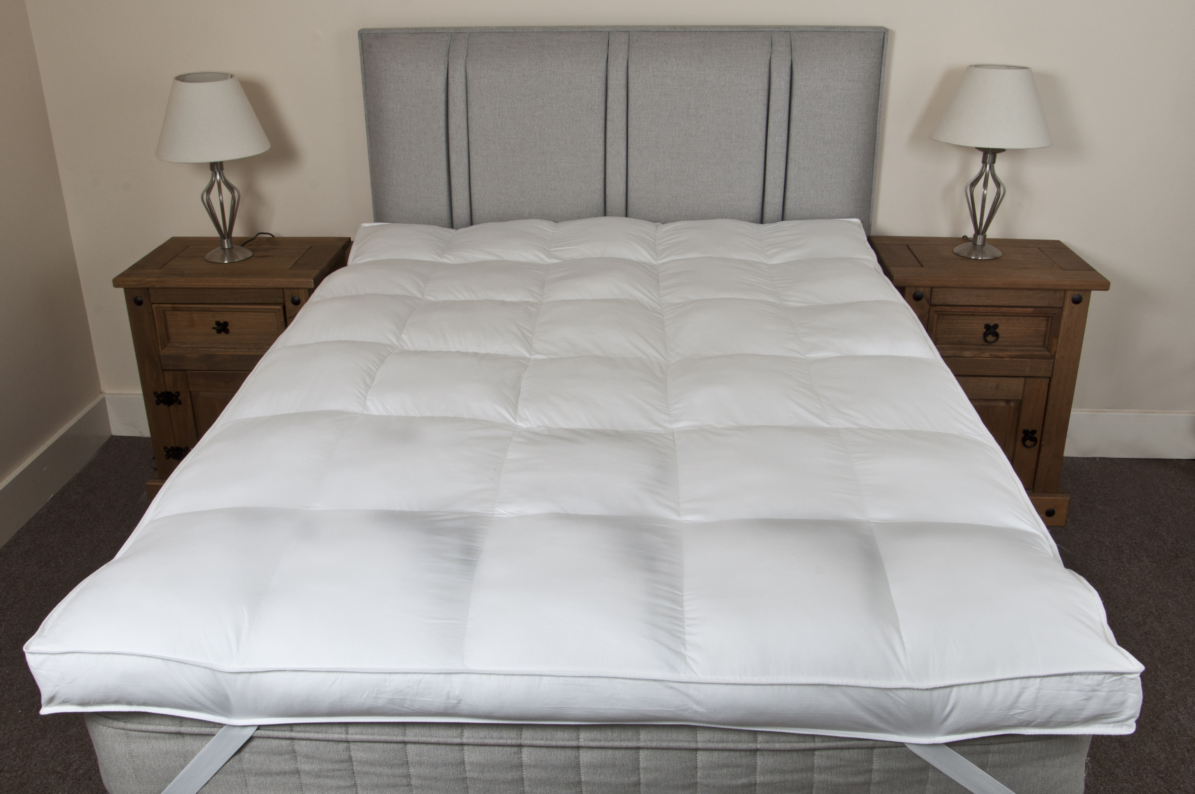 slight seconds double hotel luxury 100 cotton 10cm thick mattress topper ebay. Black Bedroom Furniture Sets. Home Design Ideas