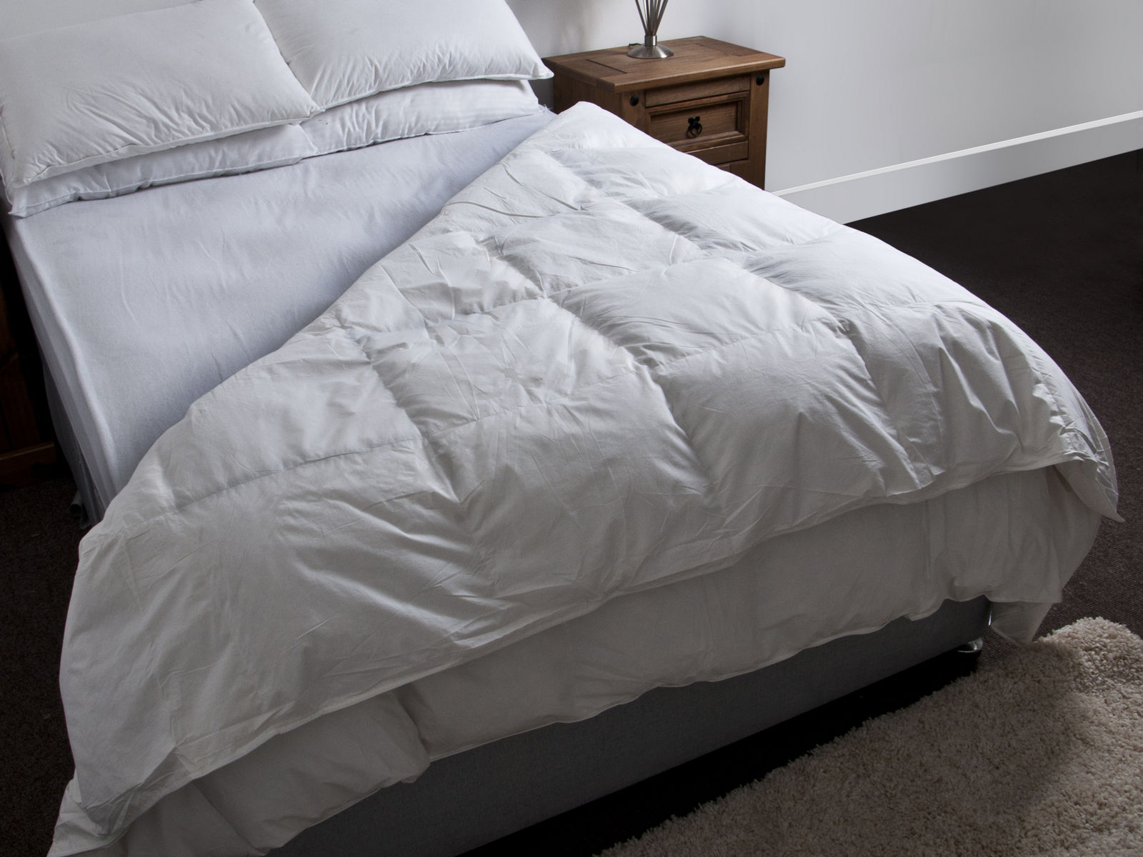 duck feather down duvet quilt bedding all sizes 10 5. Black Bedroom Furniture Sets. Home Design Ideas