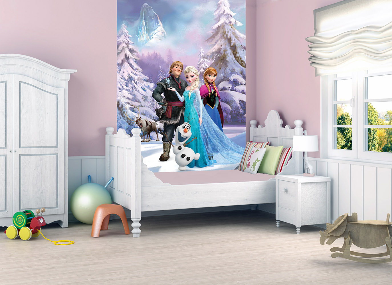 Official children kids disney frozen deco wall mural for Child mural wallpaper